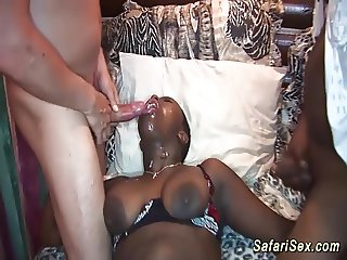 busty african babe in wild orgy