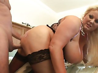 Blonde mature fuck boobs 2
