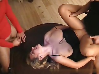 Private Gangbang with Busty MILF at Home
