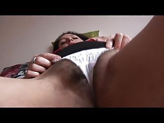 Busty mature with big hairy pussy