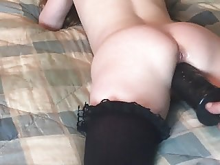 Tiney Girl fucked with big toy