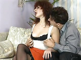 Hot milf and her younger lover 586