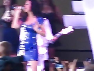 Katy Perry Blue Latex Dress  Milwaukee