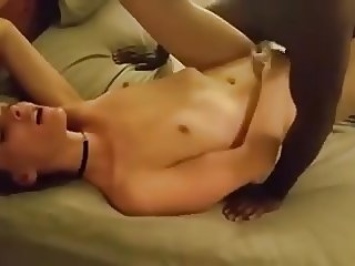White girlfriend moaning from getting real pleasure from BBC