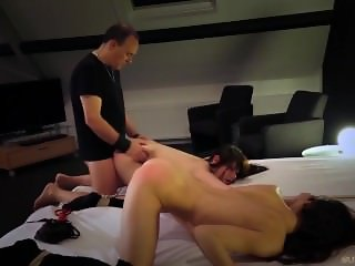 Extreme bdsm for young hogtied slaves fucked for disobedience