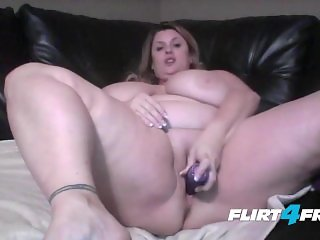 Cute Chubby Blonde Babe Unleashes Her Huge Tits