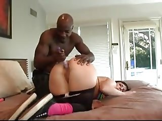 Big brunette dap by black men
