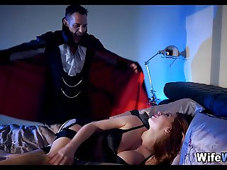 Seductive wife has a Dracula Fantasy