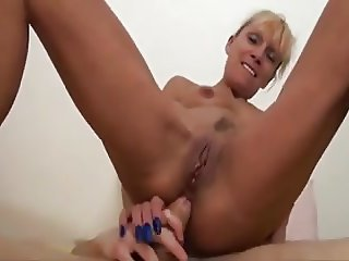 French milf with a young guy.
