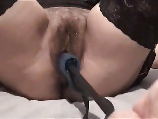 italian milf viola fucked by two dildos