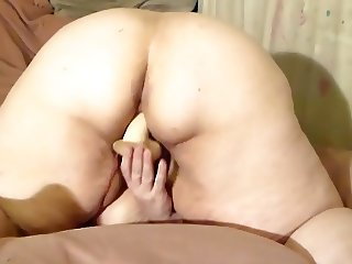 bbw wife toying from behind