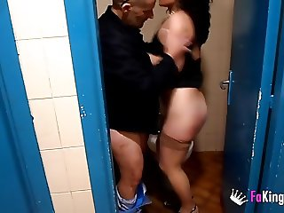 I fuck hot latina Maria in the bus station restrooms