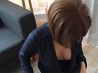 Maid DownBlouse Slow Motion