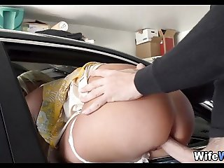 Wife with Big Tits finds a new Man to Fuck Her