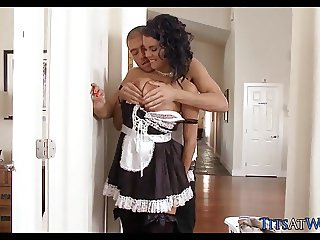 Horny Maid gets Dick on the Job