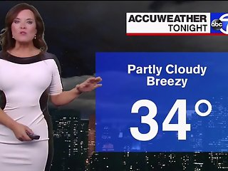 Amy Freeze in Leather Dress