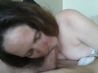 Whore Kathy taught to suck