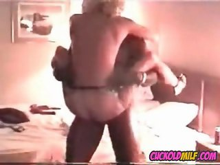 Cuckold MILF fucked by BBC bull Sissy enjoys watching her