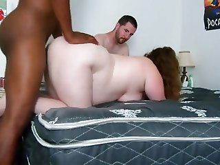 BBC fucking a bbw wife in front of her hubby