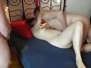 Amateur blindfolded mature wife mmmf foursome