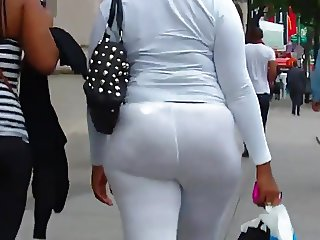 see thru spandex with a whole lot of ass