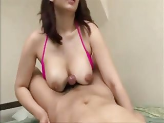 Shapely Japanese MILF fucked and creampied
