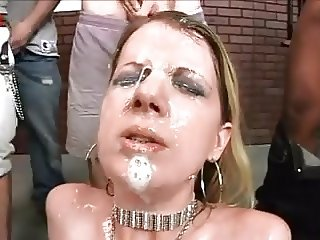 BLONDE BIMBO CUM GLAZED FACIAL