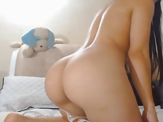 Sexy Brunette Babe Rides Her Toy Dildo
