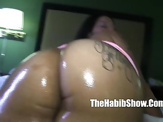 ghetto phatt booty yella boned lady queen bent over banged