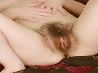 Big lips hairy pussy fingering