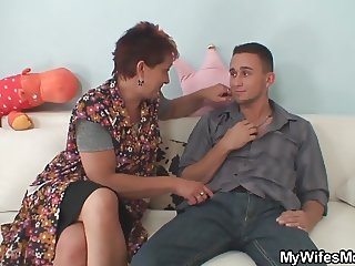 He fucks mother-in-law from behind