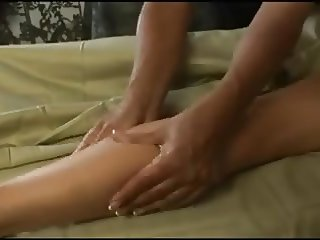 Erica Lauren gets a massage