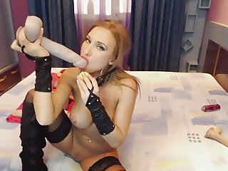 Busty Milf Gagged Anal Dildo Collection