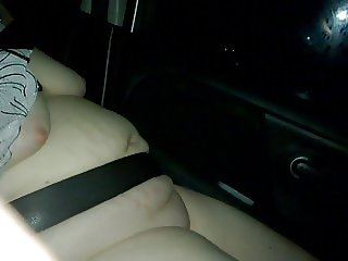 my wife went naked on a trip in the car