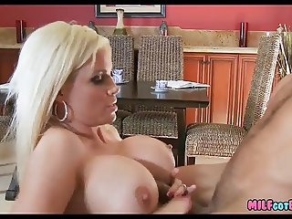 Blonde Mom has big jugs