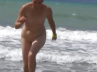 My wife nude at public beach!
