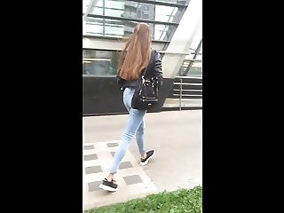 Beauty tall girl with sexy slim ass