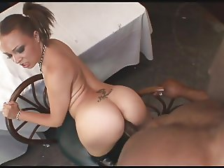Ebony Teen Takes Deep Anal