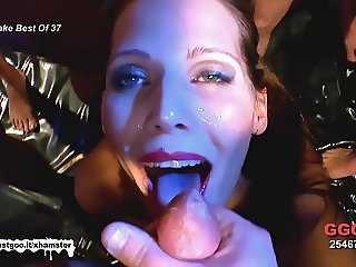Cum covered faces compilation - German Goo Girls