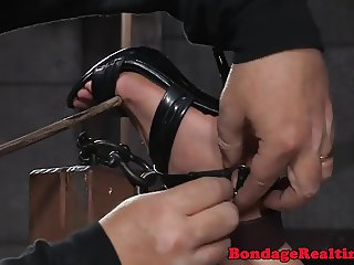 Bastinado treatment for hartied bitch
