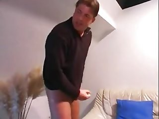 Busty Blonde German mature in furs gets nailed!