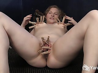 Horny Lili Plays With Clothespins
