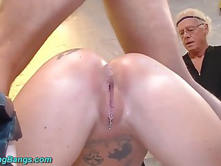 tattooed Milf Angel Aky real banged