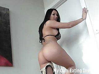 You are going to jerk off until you cum twice for me CEI
