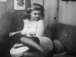 Lady On Couch Topless(Vintage)
