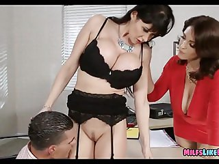 Cougars with Huge tits at the Office