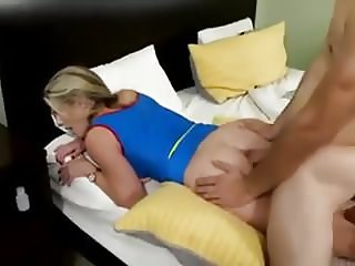 Stepmom creamed in the ass