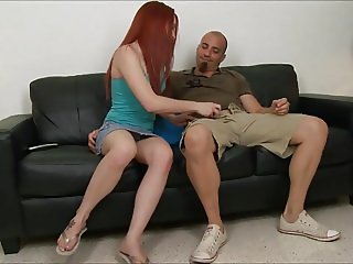 Sofie Carter Gives Sloppy Blowjob