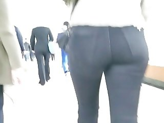 One more ass in the subway