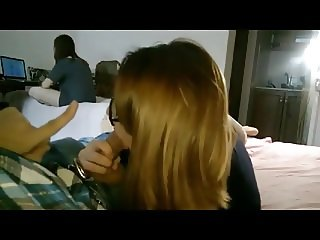 blowjob in front of step sister